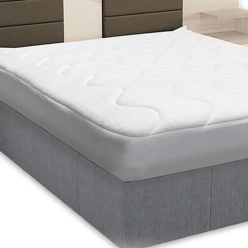 protetor de colchão casal fibrasca impermeável 140 x 190 cm