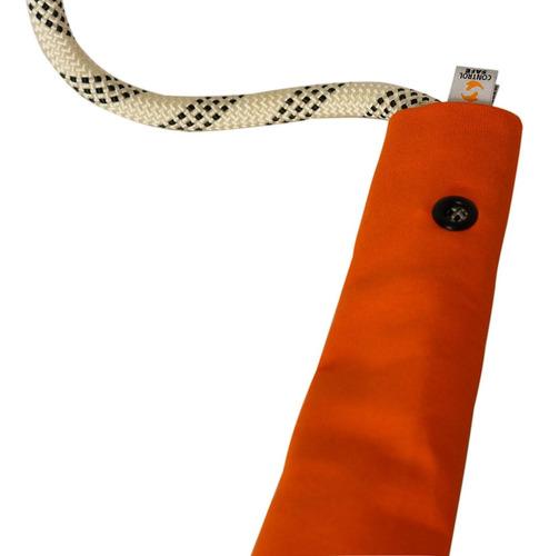 protetor de corda 100cm lona preto/laranja - controlsafe