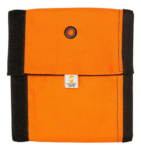 protetor de corda 60cm lona preto/laranja - controlsafe