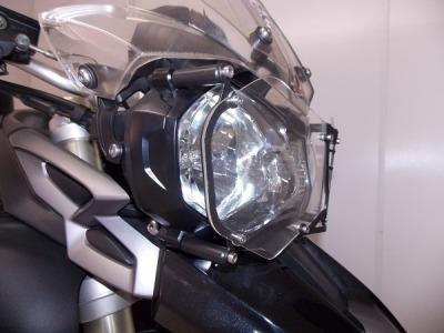 protetor de farol modelo acrílico triumph tiger 800 xc/xr/xc
