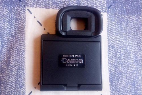 protetor de lcd com ocular para canon 7d