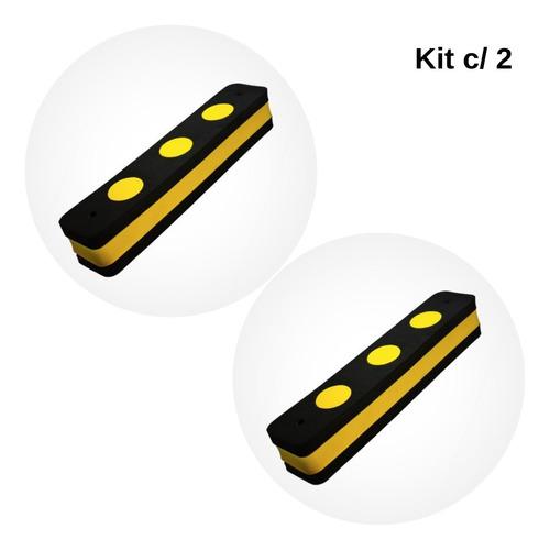 protetor de para-choque para garagem 40x8x7cm - kit c/ 2