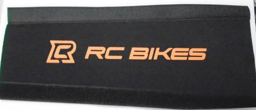 protetor de quadro bike speed/mtb preto/laranja rc bikes.