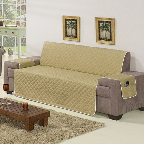protetor de sofa  02 e 03 lugares decoracao
