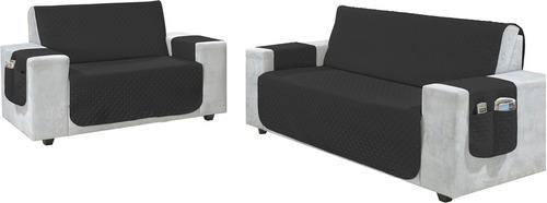 protetor de sofa ana 4 lugares com varias cores super oferta