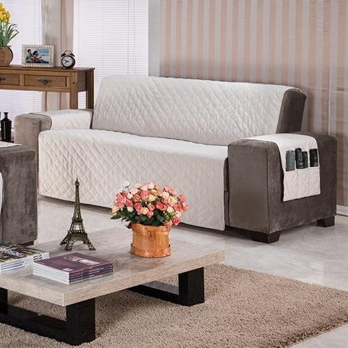 protetor de sofa ana 4 lugares king envio imediato oferta