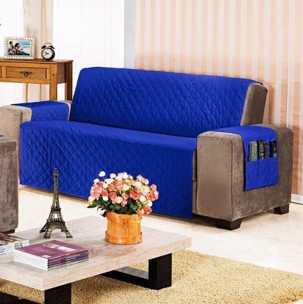 Protetor De Sofa Ana 4 Lugares Liso
