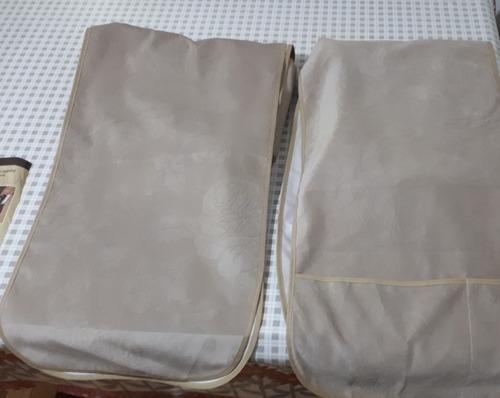 protetor de sofá de 2 e 3 lugares cor bege