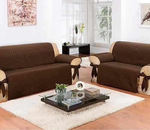 Protetor De Sofá Impermeável 2 E 3 Lugares   Fácil De Limpar