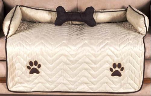 protetor de sofá pet para cachorro cor avelã -