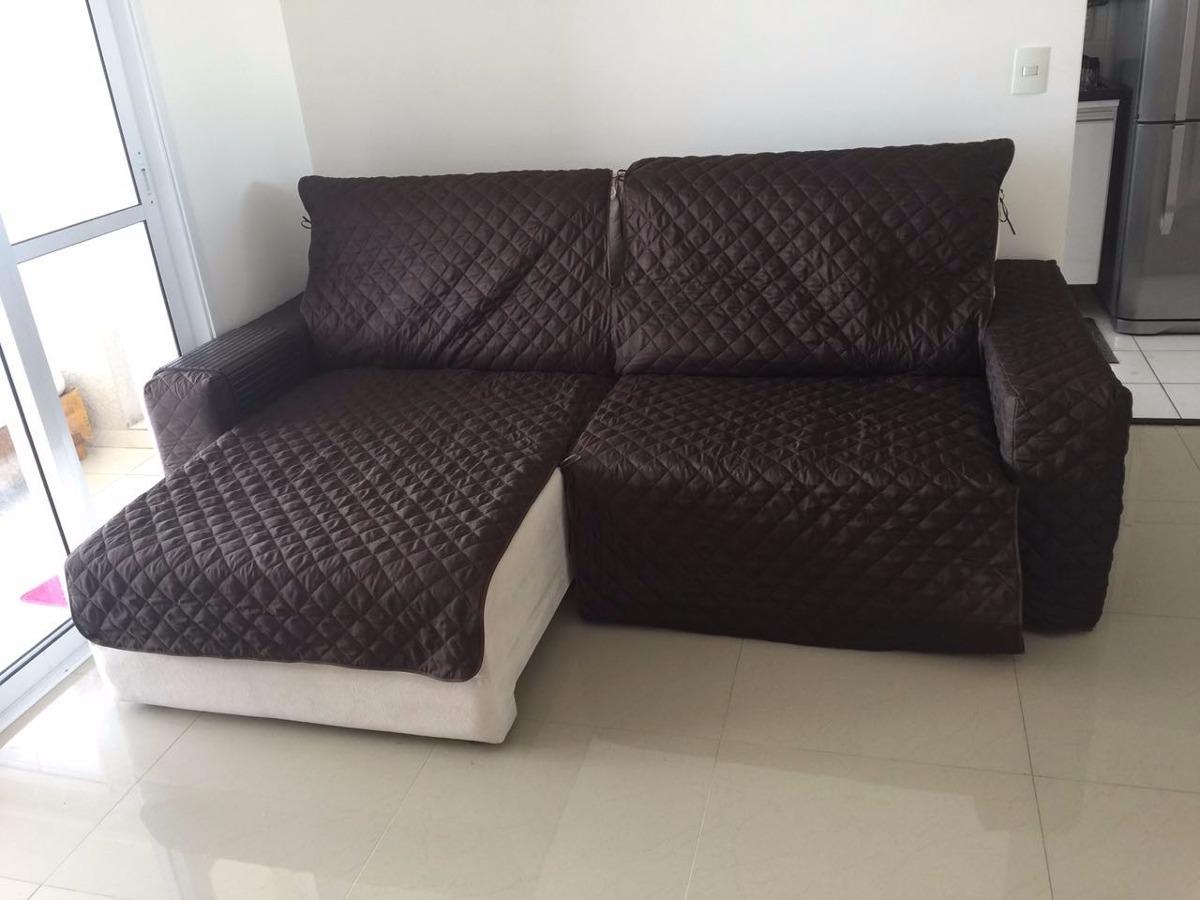 Protetor De Sofa Retratil 1,80c. 3 Md. E Braço Todo ...