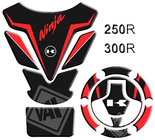 protetor de tanque bocal kawasaki ninja 250 300 vermelho 56