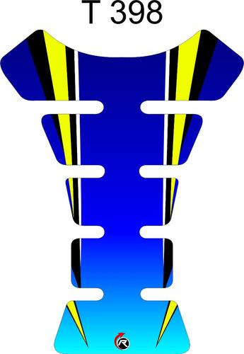protetor de tanque tankpad azul amarelo moto honda twister