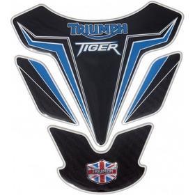 Protetor De Tanque Triumph Tiger Azul - Resinadoalto Relevo