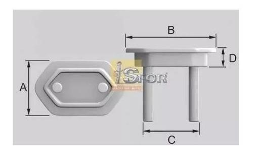 protetor de tomada sforplast branco com 50 unidades