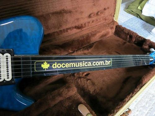protetor de trastes preto para violão ou guitarra