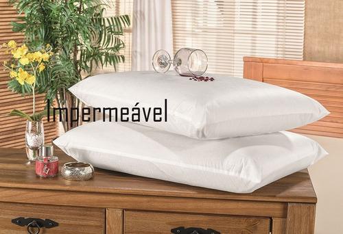 protetor de travesseiro impermeável branco