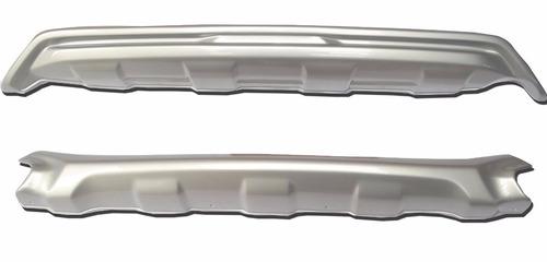 protetor dianteiro e traseiro prata honda hr-v hrv - autoaba