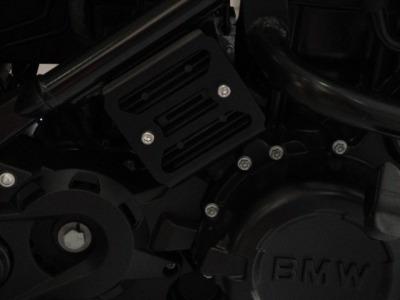 protetor difusor calor bmw f 650 gs , f 800 gs preto fosco