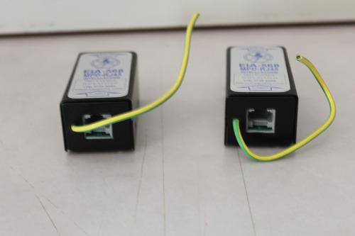 protetor elétrico conexão rj 45 para 4 ou 8 vias