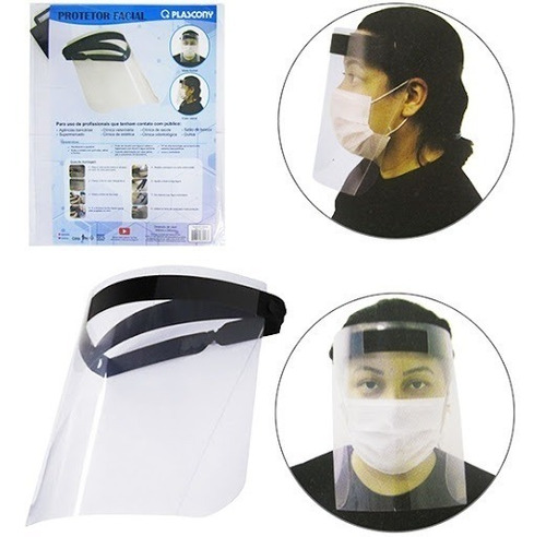 protetor facial face shield c/2 unidades plascony
