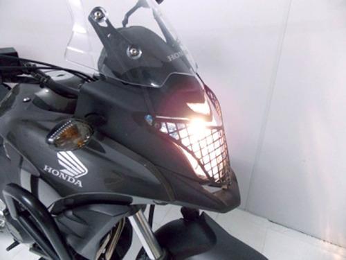 protetor farol grade cb 500 x preto fosco chapam 868