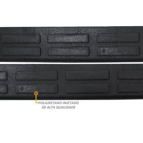 protetor injetado soleira porta chevrolet d20 cabine dupla