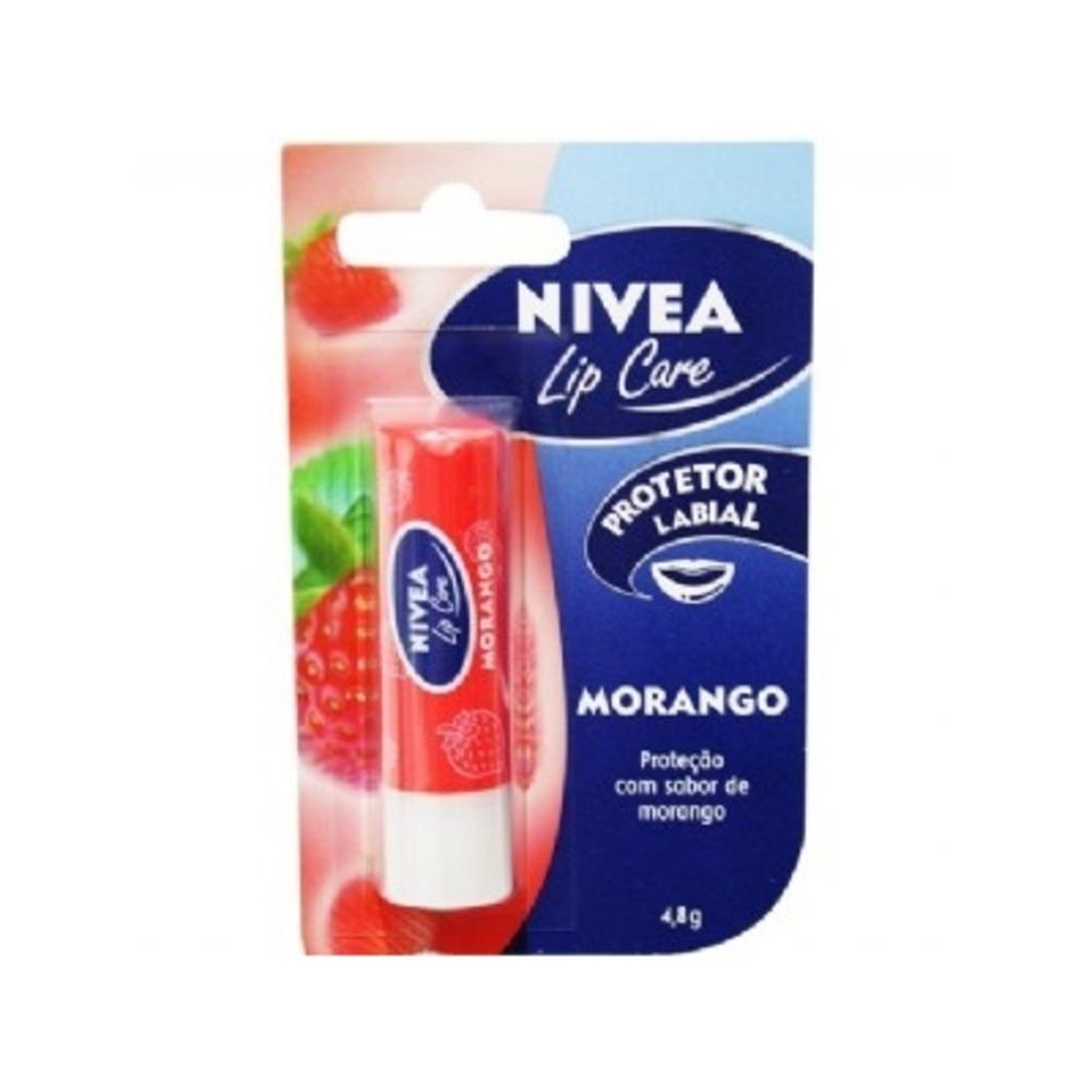 Protetor Labial Nivea Lip Care Morango Com 48g R 1485 Em Balm Carregando Zoom
