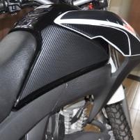 protetor lateral tanque knee pad adesivo moto honda bros 160