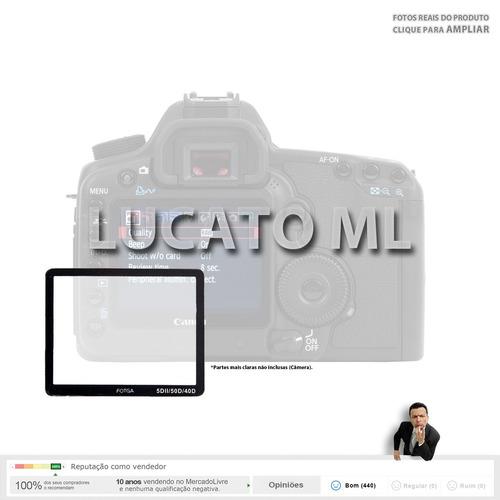 protetor lcd vidro p/ canon 40d 50d 5d mark ii 5dmkii nc