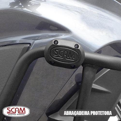 protetor motor carenagem nc700x nc750x 2013+ sptap061 prata