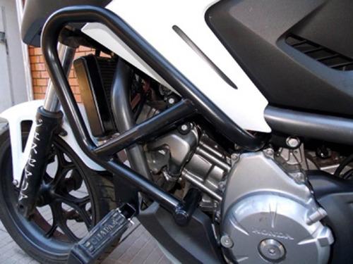 protetor motor perna carenagem nc 700 x preto fosco c pedal