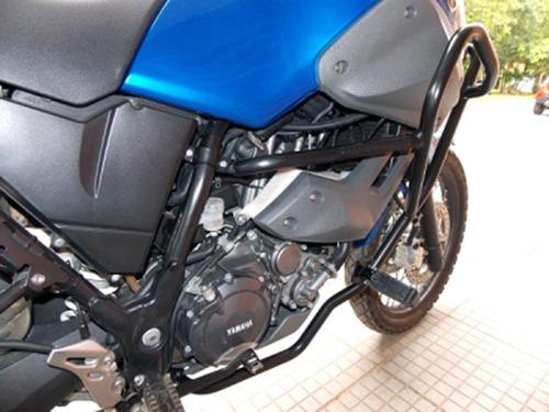 protetor motor perna tenere 660 z preto fosco com pedaleira