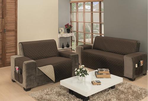 protetor para sofá king impermeável 2 e 3 lugares dupla face