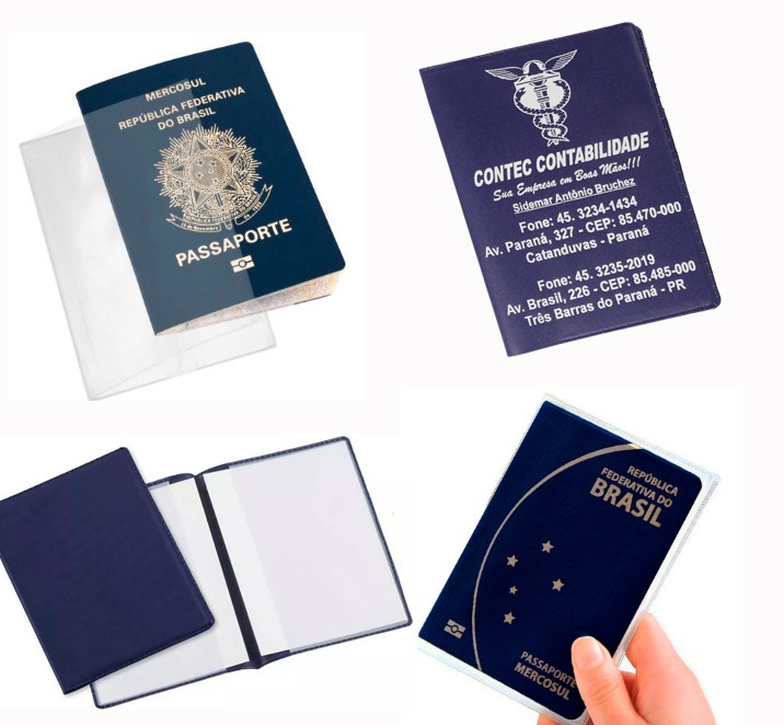 2741eba0a4 Protetor   Porta Carteira De Trabalho E Passaporte C 25 Pçs - R  36 ...