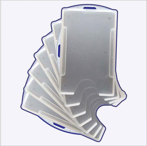 protetor porta crachá | transparente | universal | 100 un