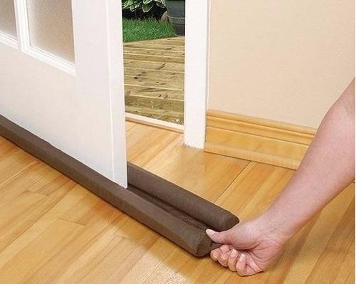 protetor porta residencial duplo bloqueia insetos calor 80cm