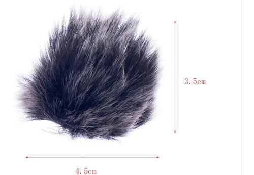 protetor pvdm anti-ruído de vento deadcat | microfone lapela