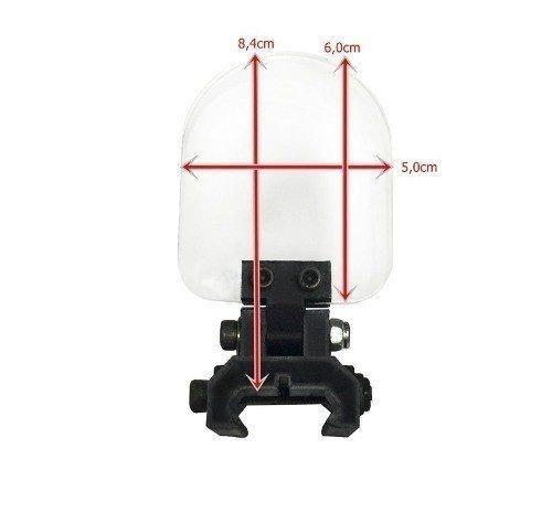 protetor red dot / luneta dobrável airsoft paintball