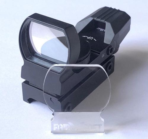 protetor red dot titan tasco lente acrilico 4mm premium