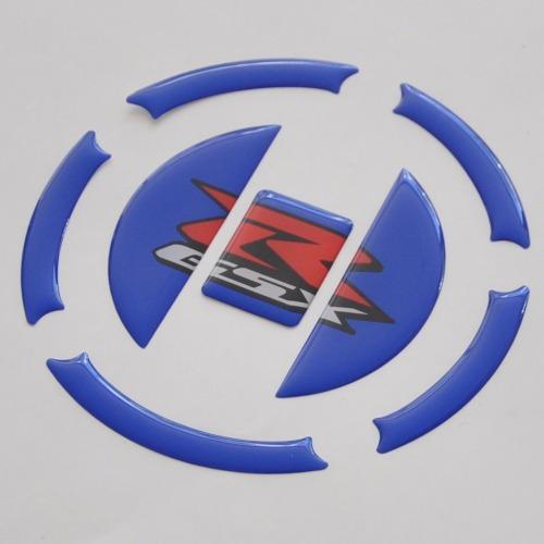 protetor relevo bocal azul tanque moto suzuki gsx r 750 srad