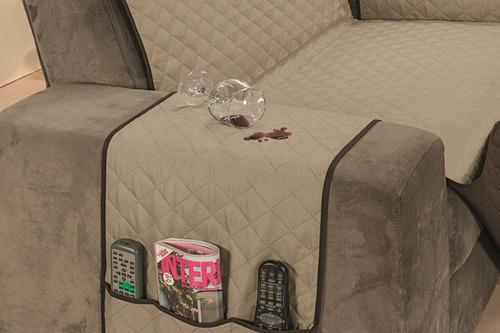 protetor sofá 02/03 lugares impermeável melhor preço oferta