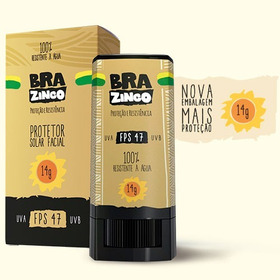 Protetor Solar Brazinco - 14 Gr - Embalagem Nova - Fps 47