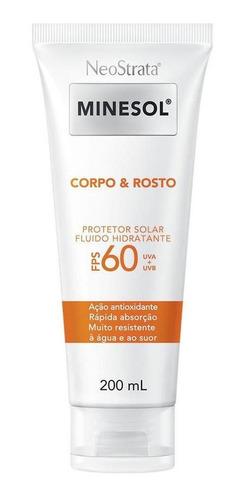 protetor solar corpo e rosto neostrata minesol fps 60 200ml