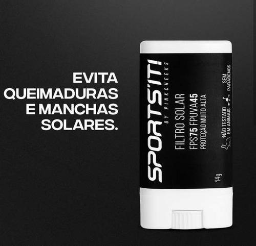 protetor solar corporal bastão pinkcheeks sports´it fps 75 fpuva 45