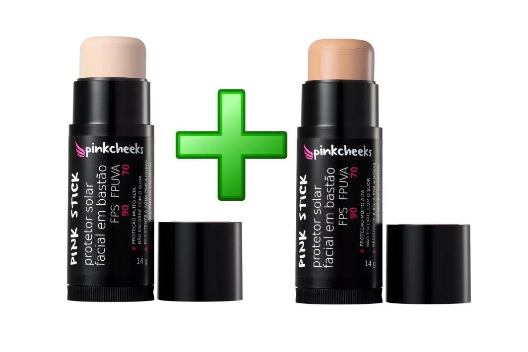 8b7c9239e Protetor Solar Facial Pink Cheeks Pink Stick 21km + 15km - R  120