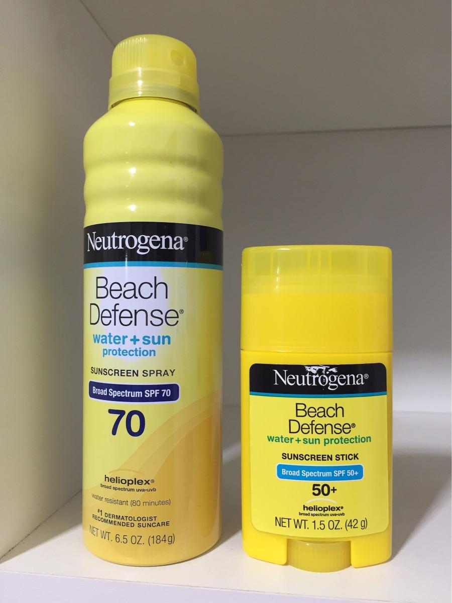 1aed22219 protetor solar neutrogena beach defense spray+bastão frt gra. Carregando  zoom.