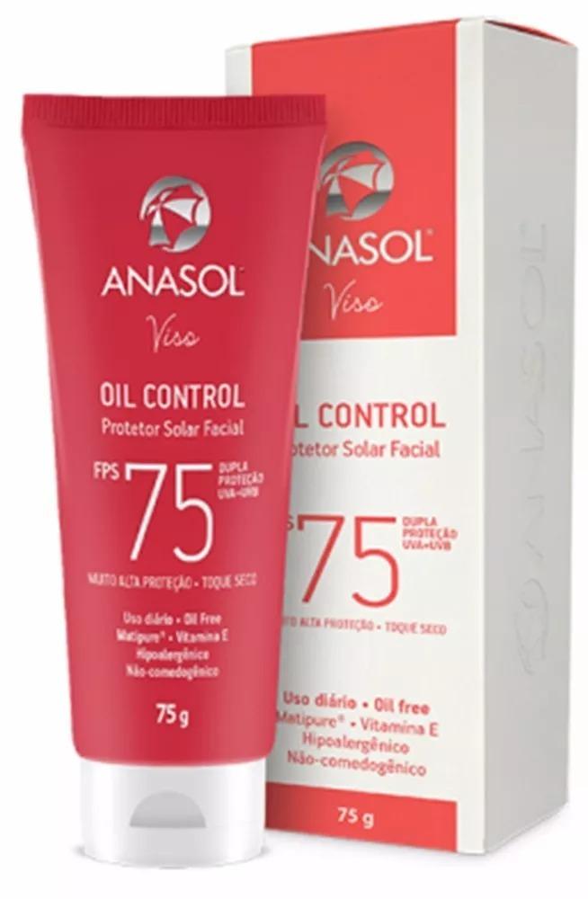 c3b71ae17 Protetor Solar Viso Facial Anasol Fps75 - R  43