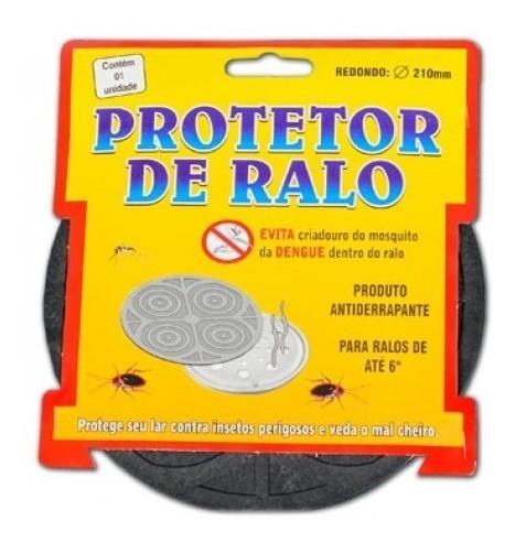 protetor  tampa ralo mau cheiro barata escorpião red. 21cm