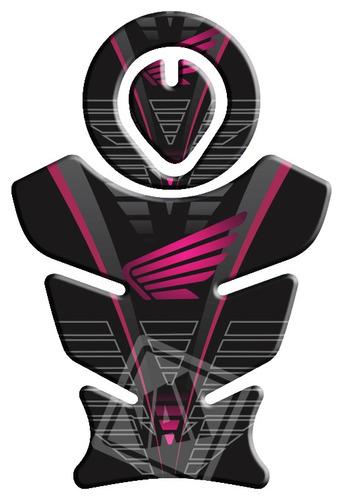 protetor tanque e boca honda bros/xre/tornado feminino rosa4